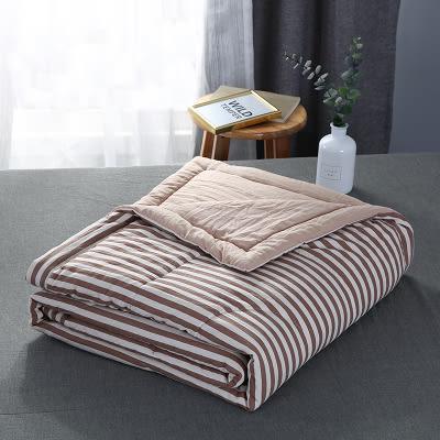 日式水洗棉全棉夏被空調被夏涼被可水洗簡約條紋單雙人夏天薄被子   任選1件享8折