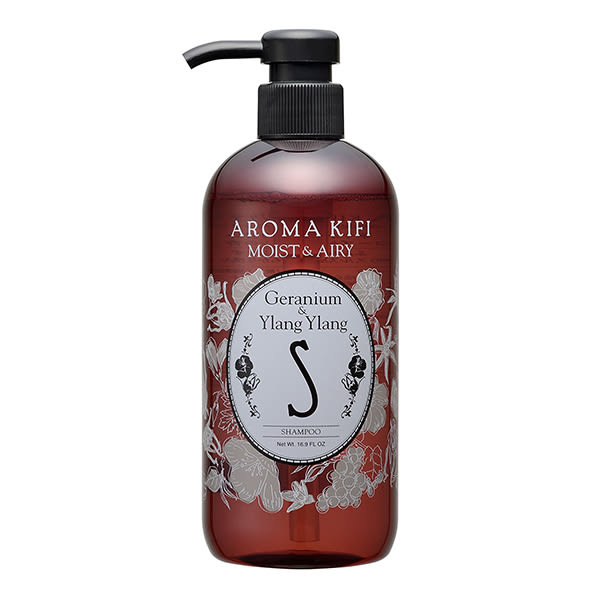 《日本製》AROMA KIFI 植粹輕盈洗髮精-伊蘭伊蘭香 500ml【無矽靈】  ◇iKIREI