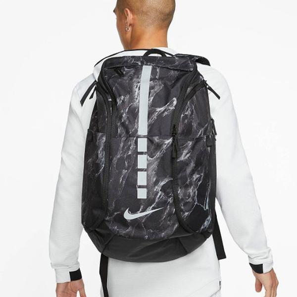 NIKE HOOPS ELITE PRO 背包 雙肩 大容量 筆電 大理石紋 潑墨 黑【運動世界】BA5555-015
