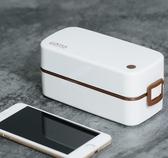便當盒 飯盒女上班族日式便攜可微波爐加熱塑膠分隔餐盒分格便當盒 夢藝家
