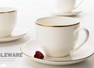 咖啡杯 家用歐式金邊小奢華咖啡杯套裝骨瓷輕奢北歐高檔茶杯杯子【快速出貨八折下殺】