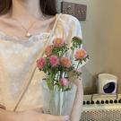方領洋裝 女裝新款2021爆款法式顯瘦小個子氣質長款茶歇裙雪紡連身裙春夏 寶貝 免運