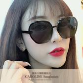 《Caroline》年度最新網紅款潮流百搭抗UV時尚太陽眼鏡 72109標檢局D74321