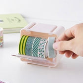 ♚MY COLOR♚迷你疊加收納盒 膠帶 整理 桌面 辦公 文具 黏貼 透明 防塵 可視 分類【N131】