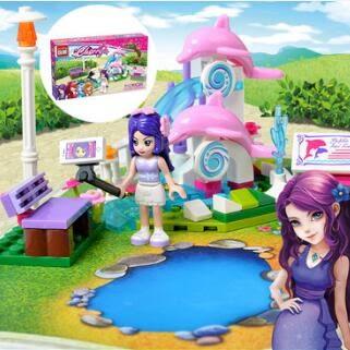 組裝積木積木女孩別墅公主城市7拼裝10兒童益智12玩具3-6周歲兼容【免運】