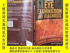 二手書博民逛書店Manual罕見for Eye Examination and