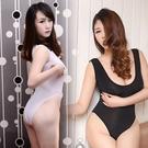 日本日系開檔死庫水連身衣舍賓泳裝女性感透明視學生一片式比基尼 喵小姐