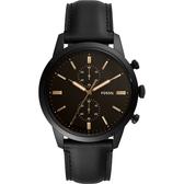 FOSSIL Townsman 城區計時手錶-黑/44mm FS5585