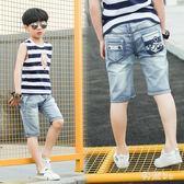 男童夏裝2018新款兒童牛仔短褲寶寶休閒薄款褲子寬鬆中褲 js3847『科炫3C』