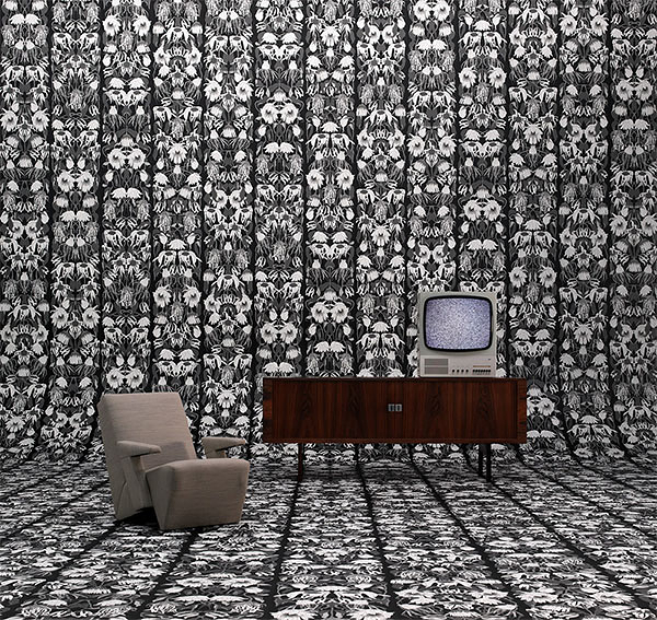 【進口牆紙】Archives Wallpaper by Studio Job【訂貨單位48.7cm×9m/卷】荷蘭 花?草 黑色 JOB-06