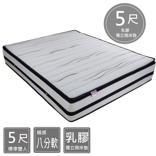 床墊 / 5尺 乳膠獨立筒 / 范特西 三線乳膠獨立筒床墊 標準雙人 5*6.2尺 B24