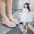 兒童鞋女童單鞋春秋中大童女孩公主鞋韓版軟底小高跟演出皮鞋