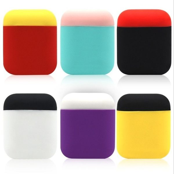 【Love Shop】LILENG airpods撞色保護套可拆防滑超薄 蘋果無線耳機矽膠套雙色