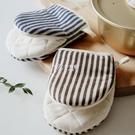 隔熱手套 日式加厚微波爐手套棉麻防燙耐高溫廚房烘培手套家用蒸箱烤箱專用