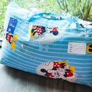 睡袋 / 兒童標準【米奇手牽手藍】標準幼教款 高密度磨毛布 戀家小舖台灣製ABF088