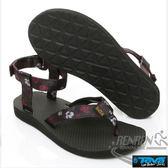 TEVA  女運動涼鞋 Original Sandal Floral (黑*花) 透氣排水性 耐磨抗菌TV1008650NFRL