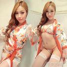 日本女式櫻花和服風大尺碼超性感開襟情趣內衣制服誘惑套裝成人睡衣