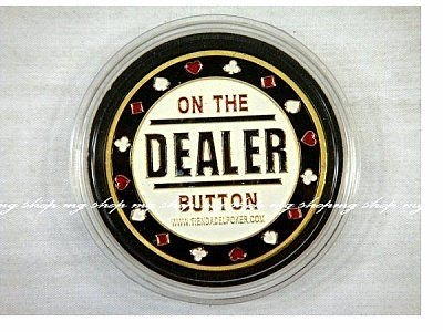 TEXAS HOLD'M Poker Guard 金屬超質感壓牌器牌德州撲克,21點,梭哈DEALER