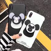 iPhone 7 Plus 暴力熊 情侶 手機殼 帶支架保護殼 防摔保護套 全包保護軟殼 手機套 iPhone7