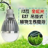 吊掛植物燈 36W大功率光源 12瓦消耗功率 植物生長燈 推薦   E27 LED植物燈 100v-240v-全紅光 JNP016