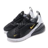 Nike 休閒慢跑鞋 Air Max 270 GS 黑 白 黃 大氣墊 增高 女鞋 大童鞋 【PUMP306】 943345-016