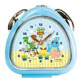 〔小禮堂〕迪士尼 玩具總動員 三角型鬧鐘《藍黃.Q版》桌鐘.時鐘 4548626-09739