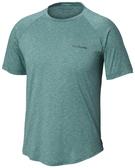 【Columbia】男UPF55快排短袖上衣-綠