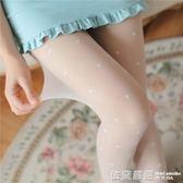 夏超薄透明性感白色絲襪日系復古可愛顯瘦連褲襪防勾絲打底襪子女  依夏嚴選