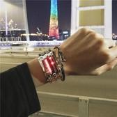 手錶男學生韓版創意數字式夜光電子錶女款情侶手錬  伊衫風尚