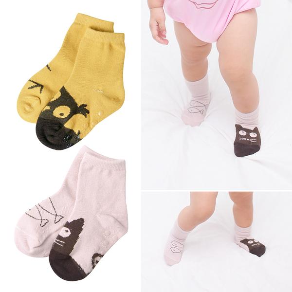不對稱防滑襪 兒童襪 卡通襪 新生兒 襪子 純棉 透氣 地板襪 寶寶襪 男寶寶 女寶寶 54202
