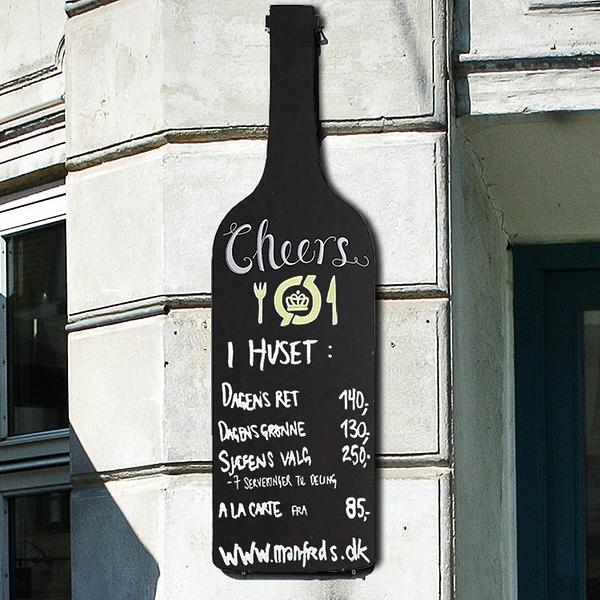 降價兩天 美式鄉村風格掛式小黑板 創意酒瓶造型 酒吧會所酒莊KTV壁掛裝飾