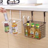 日式鐵藝收納籃廚房免打孔掛籃置物籃浴室衛生間掛式置物架儲物 智聯