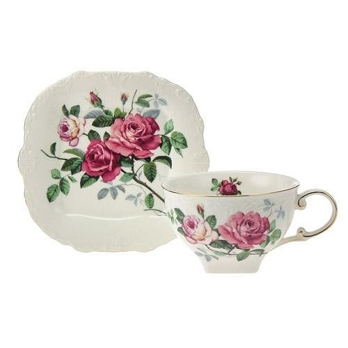 日本【英蘭玫瑰 English Rose】紅茶杯盤組