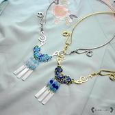瓔珞項圈 燒藍景泰藍項鍊日常漢服配飾cos古裝古典飾品 - 雙十一熱銷