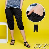 .GAG GLE超大尺碼.【19050007】百搭推薦舒適棉質七分褲 1色