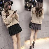 (低價促銷)小中大尺碼短褲裙學院風百褶裙半身裙褲秋冬保暖保暖半身裙