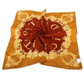 Christian Dior 巴洛克風字母環繞領帕巾(橘) 989036