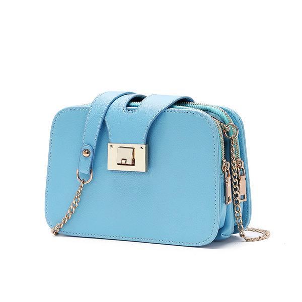 側背包-時尚韓風三層鈕轉扣側背包/斜背包-共5色-JB058(現貨販售)