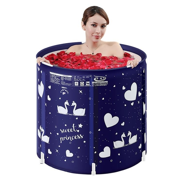 伊潤泡澡桶成人洗澡桶充氣浴缸家用加厚大號浴盆全身折疊浴桶塑料 8號店WJ