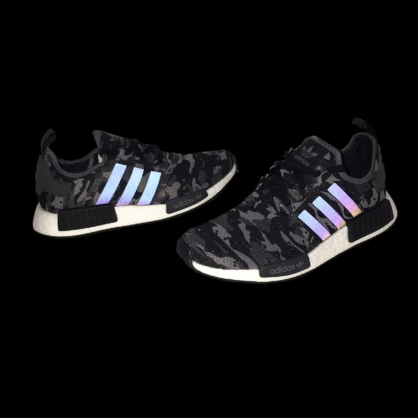 adidas 休閒鞋 NMD_R1 黑 灰 男鞋 反光 迷彩 運動鞋 襪套式 【ACS】 FZ0077