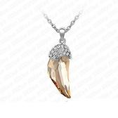925純銀項鍊 水晶墜飾-鑲鑽復古生日情人節禮物女飾品2色73aj50【巴黎精品】
