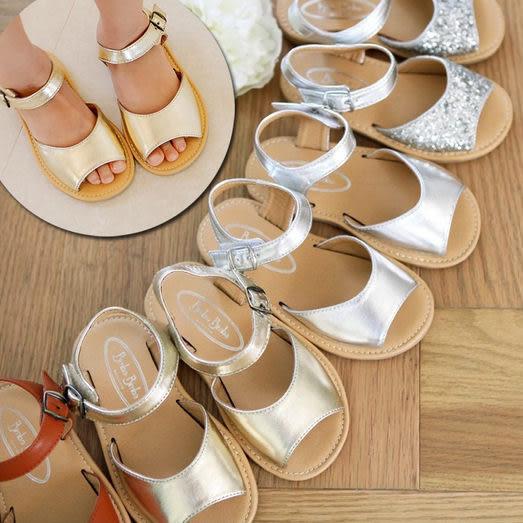 經典舒適簡約好穿涼鞋 膠底魔鬼氈黏貼 橘魔法Baby magic 現貨 童鞋 女童
