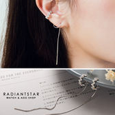 [925純銀]我的幸福剛剛好耳骨流線純銀耳環【SL323】璀璨之星☆