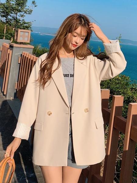 西裝外套 春秋西裝外套女士2021新款韓版小個子西服休閒早秋上衣設計感小眾