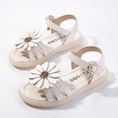 女童涼鞋夏季正韓公主鞋太陽花兒童沙灘鞋時尚小女孩鞋-年終穿搭new Year