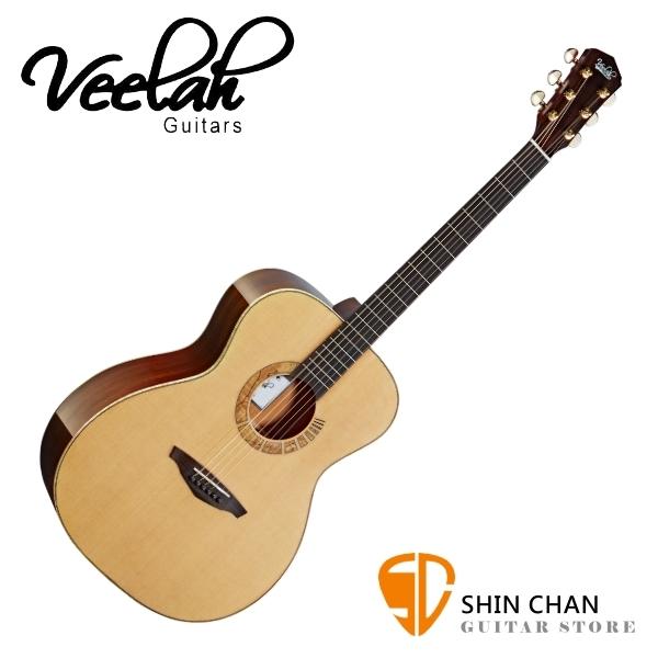 Veelah 吉他 V7-SAS-OM 全單板 民謠吉他 附硬盒【OM桶身/木吉他】