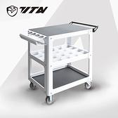【TITAN泰坦】TH-7043M 移動工具車-附分類盒10入-DIY洗鍊白