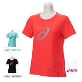 ASICS亞瑟士 女短袖T恤 (桃紅) 大LOGO圖案 抗紫外線 142610-0688【 胖媛的店 】