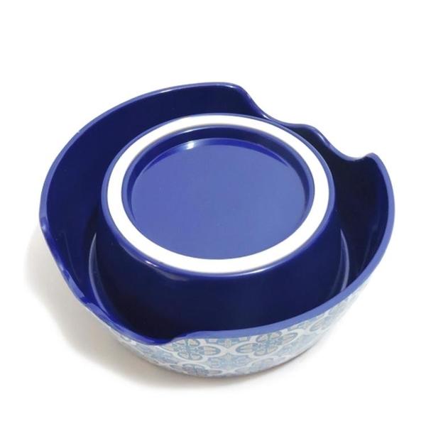 波波寵物碗貓糧碗單碗防滑防打翻狗碗貓食盆青花瓷狗碗寵物用品 伊衫風尚