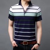 男短袖POLO衫 休閒男裝上衣 男士翻領中年薄款短袖t恤男休閒男式T恤韓版男短csZ1818